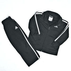 Adidas Athletic Pants and Zipup Jacket